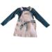 Σαλοπέτα σε χρώμα σομόν μαζί με πετρόλ μπλούζα για κορίτσι